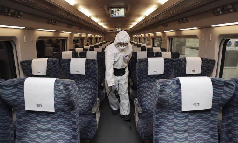 Дезинфекция поезда
